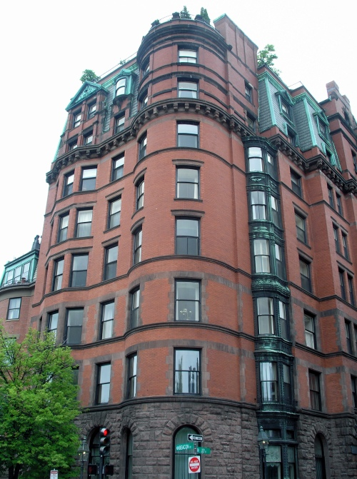 Apartment Building Boston the tudor, boston (1887) |