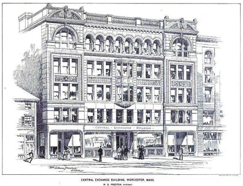Central Exchange Building in 1896